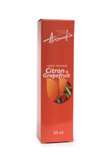 Альпика | Ночной крем Citron a Grapefruit, 50 мл